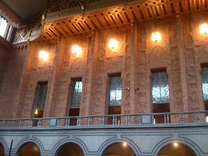 "Photo: stockholm city hall ""blue hall"".  Not blue."
