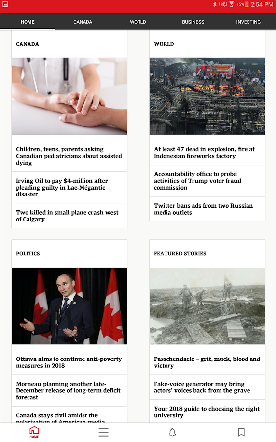 The Globe and Mail: News – Capture d'écran
