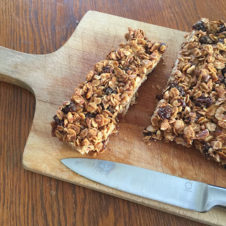 Oatmeal Cinnamon Raisin Granola Bars