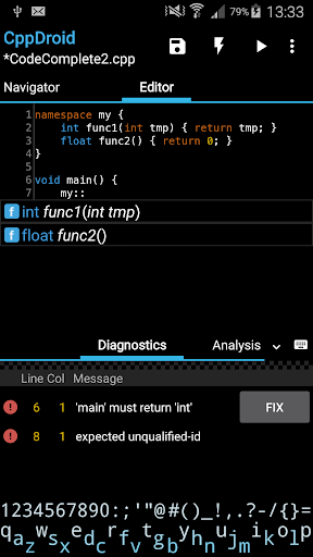 CppDroid - C/C++ IDE 3.3.3 screenshots 2