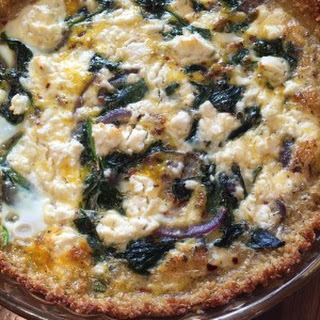 Quinoa Quiche with Spinach and Feta
