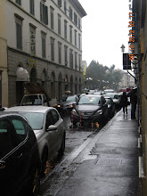 Photo: A typical crowded and narrow Florence street