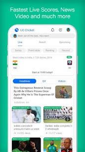 UC Cricket – Live Cricket Score, news & Cricinfo Apk  Download For Android 1