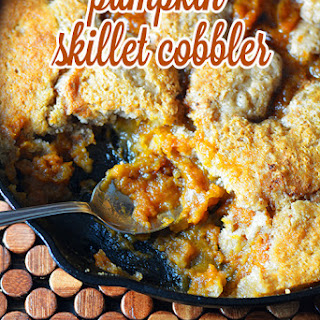 Pumpkin Skillet Cobbler.