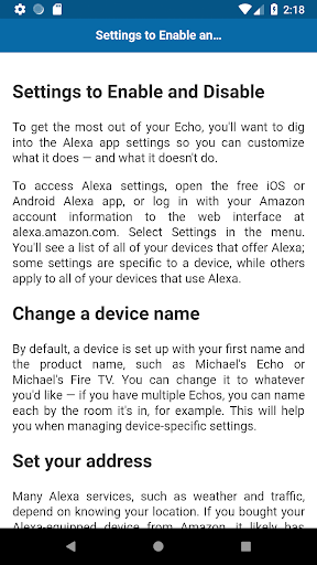Tips and Tricks for Amazon Echo 1.0 screenshots 3