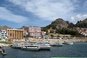Photo: Copacabana, Bolivia. Port for leaving to the Isla del Sol.