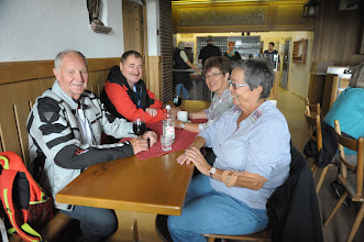 Photo: Jolanda,Ruth,Erich & Vitus im Kloster Engelberg