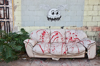 "Photo: Happy Halloween!  More #Austin #streetart to share - this killer hamburger art seemed appropriate for All Hallows Eve.  Killer Hamburger Street Art AKA ""Fast Food Will Kill You""  #Halloween  updating to add the #streetartsunday tag"