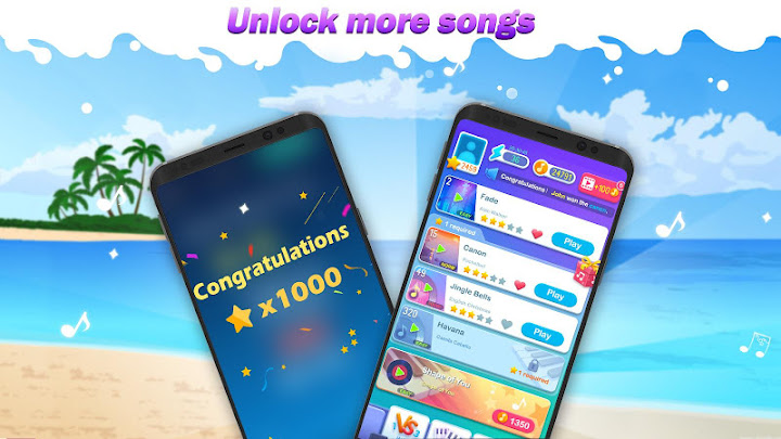 Dream Piano Tiles 2018 - Music Game Android App Screenshot