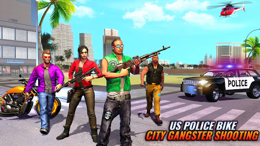US Police Bike Gangster Chase Crime Shooting Games 1.0.7 screenshots 14