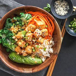 Thai Peanut Tofu Buddha Bowl