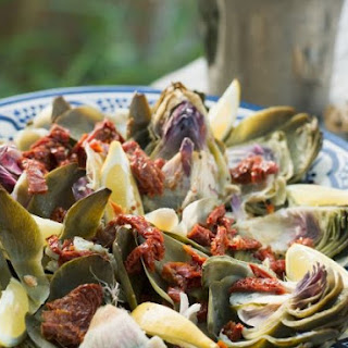 Summery Artichokes with Olive Oil Sauce