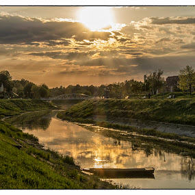 Sunset at river by Vanja Vidaković - Landscapes Sunsets & Sunrises (  )