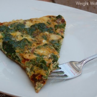 Greek Frittata with Spinach and Feta.
