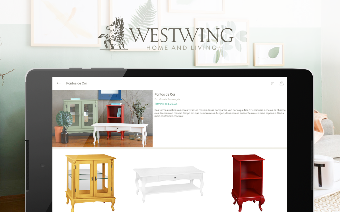 westwing casa e decora o apps para android no google play. Black Bedroom Furniture Sets. Home Design Ideas
