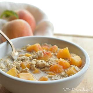 Peaches & Cream Oatmeal