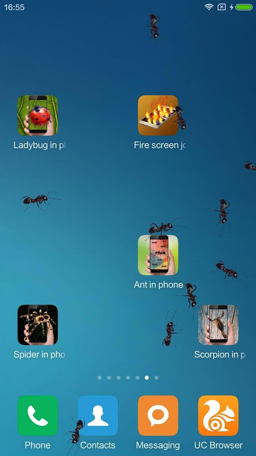 ant in phone prank android apps on google play. Black Bedroom Furniture Sets. Home Design Ideas