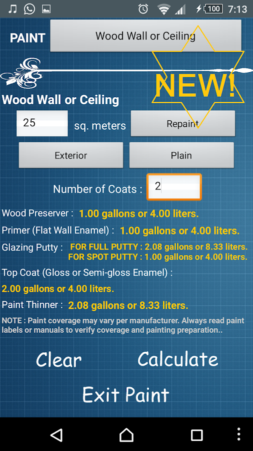 Building Material Estimate- screenshot