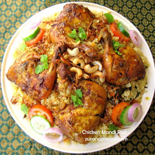 Chicken Mandi Rice-Middle Eastern Chicken Mandi Biriyani