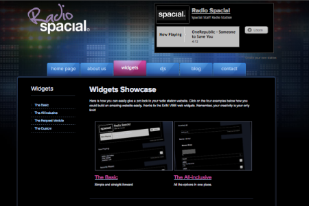 Radio Spacial Website