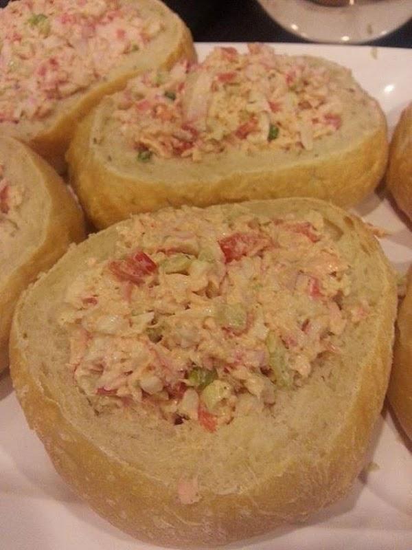 Seafood Salad In Bread Bowls Recipe