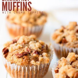 Banana Nut Muffins with Crumb Topping