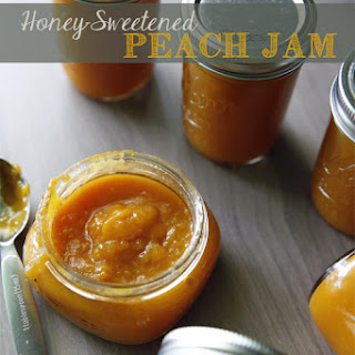 Honey Sweetened Peach Jam.