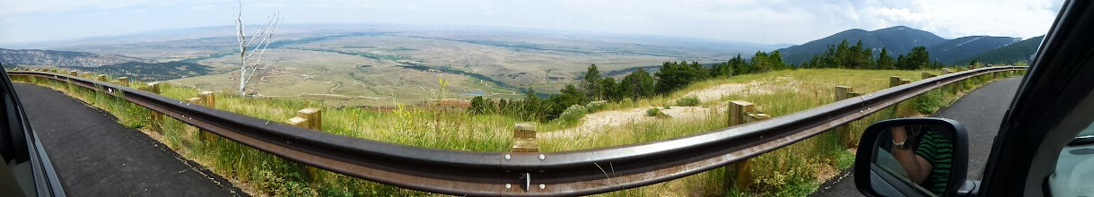 Photo: I thought I wouldn't want this panorama, but now I like how the rail curves in the photo.