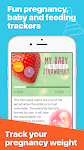 screenshot of Pregnancy tracker and chat support for new moms