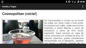 Screenshot of Coctel y Tragos