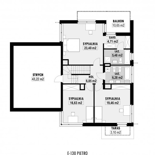 E-130 - Rzut piętra