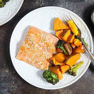One Pan Orange Salmon with Swee.