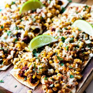 Mexican Street Corn Flatbread Pizza