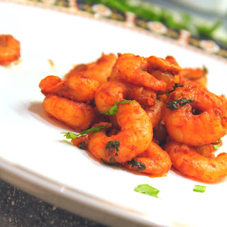 Smoking Hot Prawns With Coriander