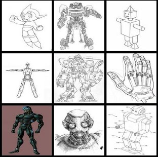 learn to draw roboot - náhled