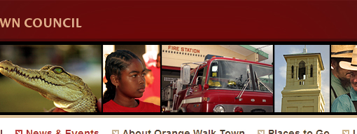 Screenshot: the new Orange Walk Town Council website