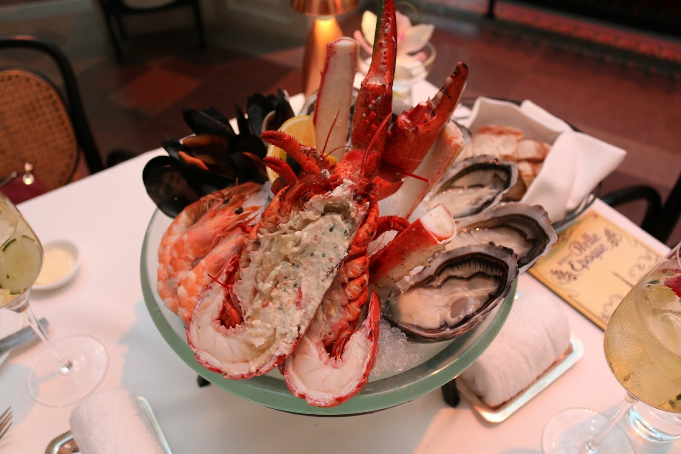 Seafood platter from Aux Beaux Arts in the MGM Macau