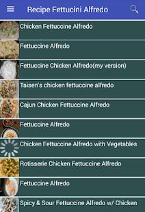 Recipe Fettucini Alfredo - náhled