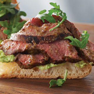 Steak Salad Sandwiches with Edamame Aioli.