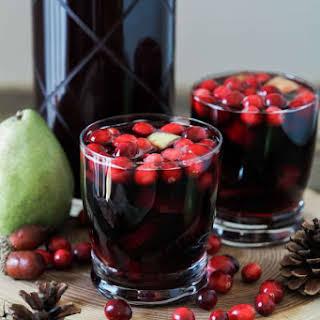 Spiced Cranberry Sangria.