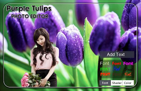 Purple Tulips Photo Editor - náhled