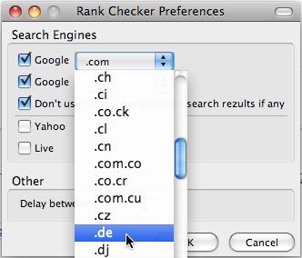 Wersje językowe wyszukiwarki
