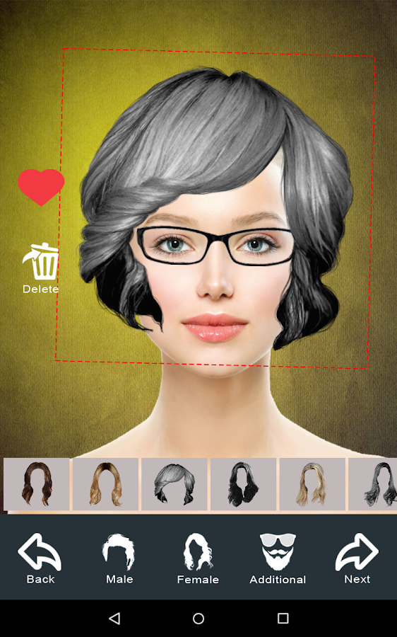 Hairstyle Changer app, virtual makeover women, men- screenshot