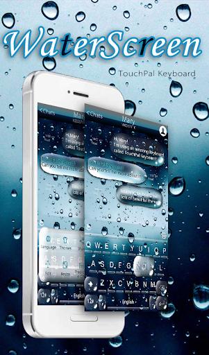 Water Screen Keyboard Theme