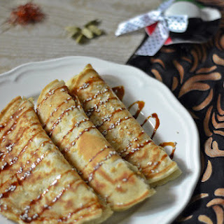 Chebaab ~ Emirati Cardamom Saffron Pancakes.