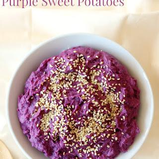 Tahini Mashed Purple Sweet Potatoes.