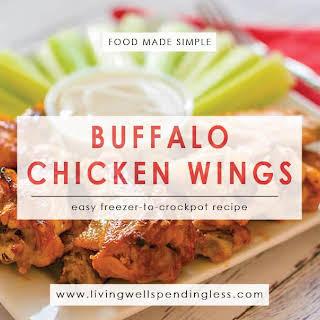 Freezer to Crockpot Buffalo Chicken Wings.