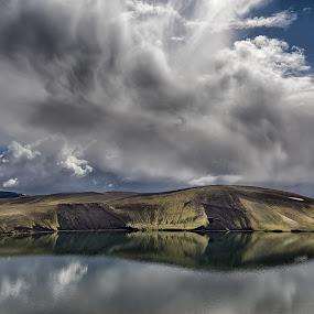 Reflection by Bragi Kort - Landscapes Weather ( clouds, reflection, iceland, sky, lake )