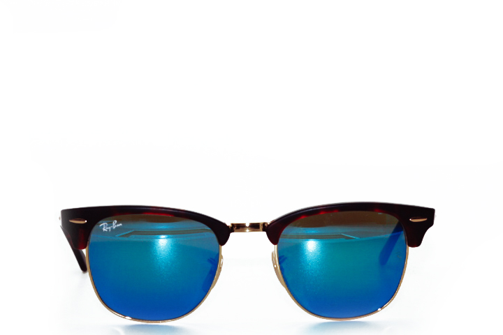 Ray Ban Clubmaster Brown Tortoise Mirror