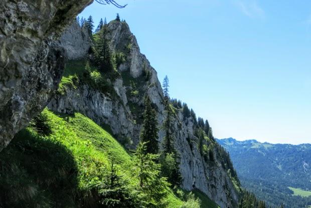 vom Wanderpfad Aufstieg Besler Rückblick Obermaiselstein Allgäu